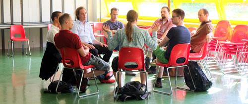 Nachmittägliche NLP Übungsrunde in Kleingruppen