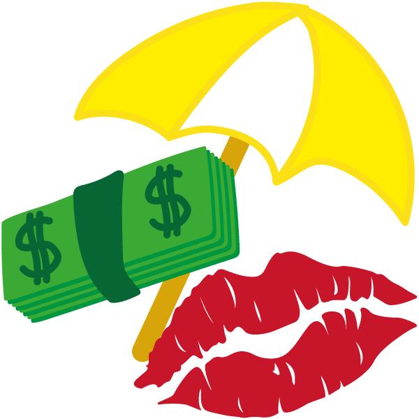 Geld Kuss und Sonnenschirm - mehr Geld, mehr Sex, nie wieder arbeiten