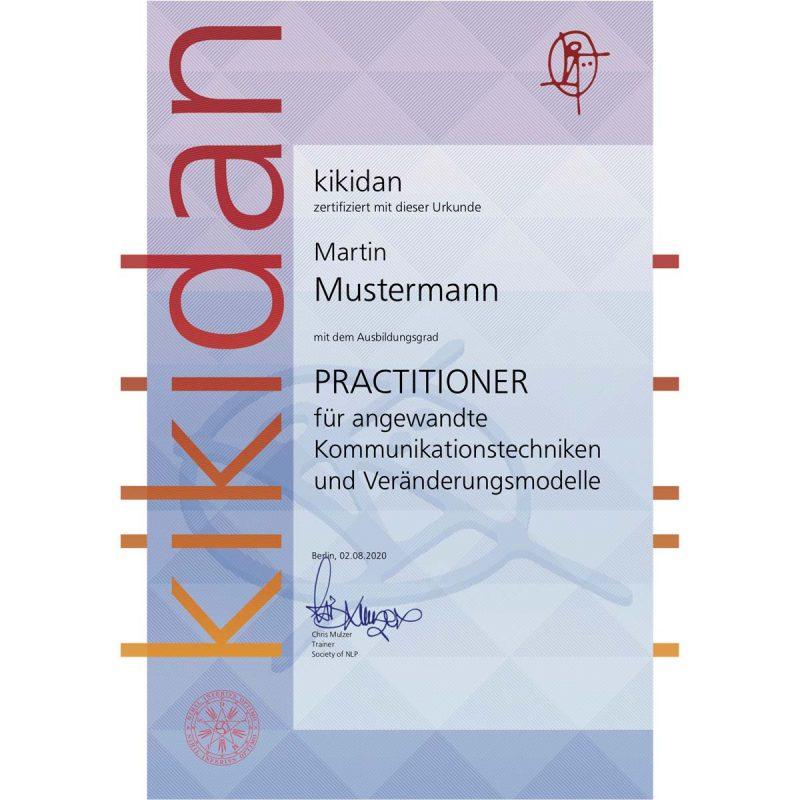 kikidan Urkunde Mustermann
