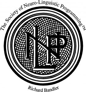 The Scoiety of NLP logo black and white