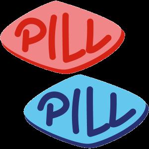 Icon: Rote und Blaue Pille