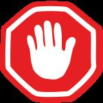 Angst vor Ablehnung Stopschild
