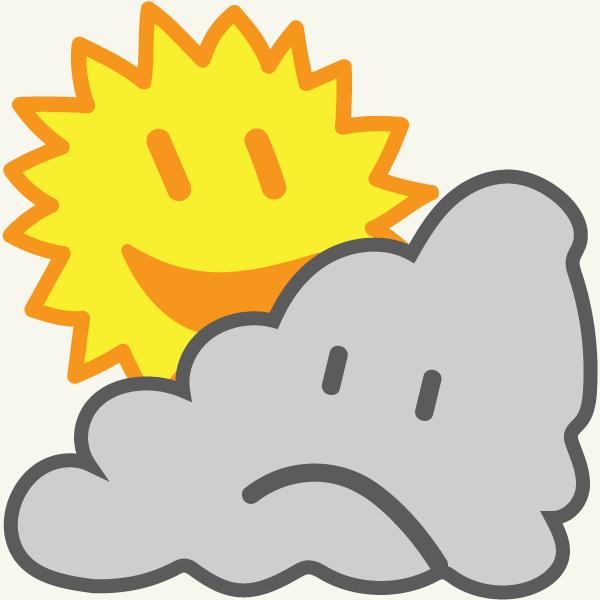 Immer gute Laune haben - Sonne Wolke Smileys