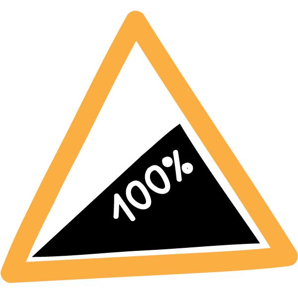 Durchhalten Warndreieck Steigung