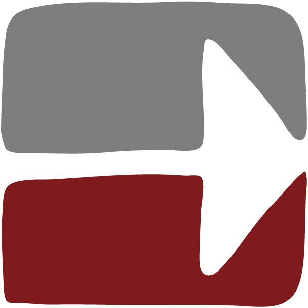 Pfeil Rot Grau - Weg durch die Angst