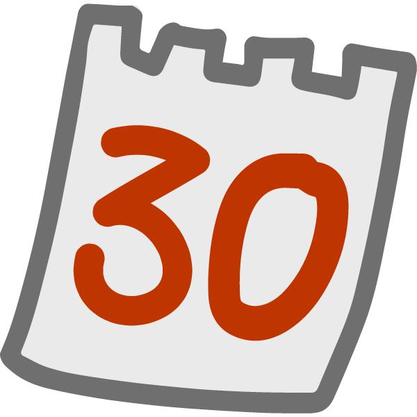 30 Tage ohne Kalenderblatt