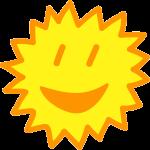 Lachende Sonne - Positives Denken