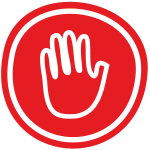 Nein Sagen Handfläche Stoppschild Rot