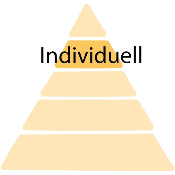 Maswlosche Bedürfnisspyramide Stufe 4: Individuell