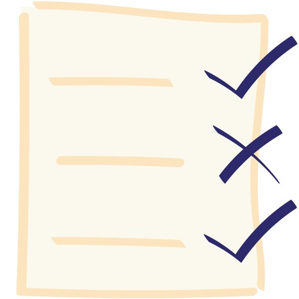 Icon: Listing Programms Checkliste