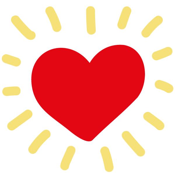 Icon: Strahlendes Herz Gesund und glücklich