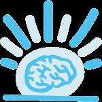 Icon: Gehirn aufwecken (Sonnenaufgang)