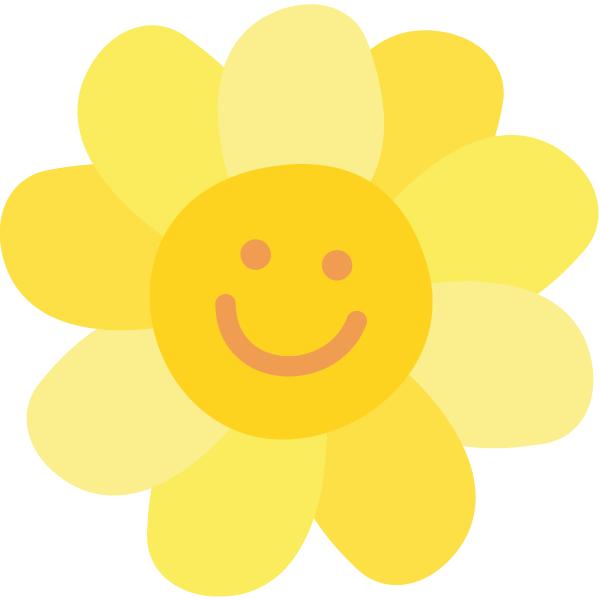 Icon Glücklich sein: Sonnenblume Smiley