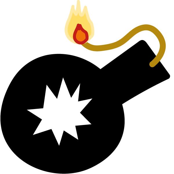 Icon Bombe Weltuntergang