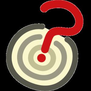 Icon Fragezeichen in Zielscheibe